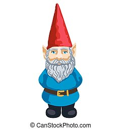 Illustration of garden gnome - Vector colorful illustration...