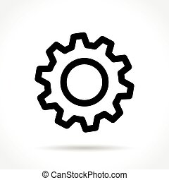 gear icon on white background
