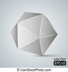 ?????? - Illustration of geometric figure. Icosahedron