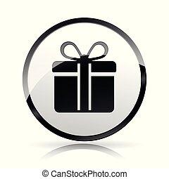 gift icon on white background