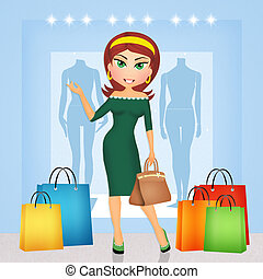 Go Shopping Illustrations And Clipart 1654 Royalty