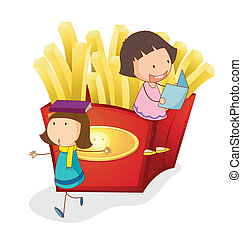 girls and french fries