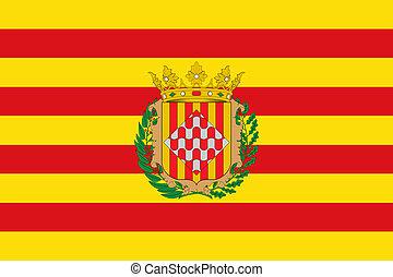 Girona city flag