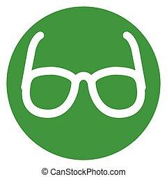 glasses green circle icon