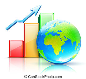 global business concept - illustration of global business...
