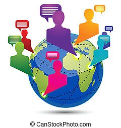 global connectivity - illustration of global connectivity on...