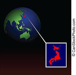 Illustration of global radioactive biohazard after damage on...