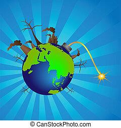 global warming - illustration of global warming