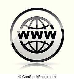 globe icon on white background