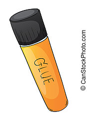 glue tube - illustration of glue tube on a white background