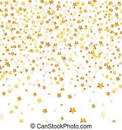 Golden Abstract stars on isolated