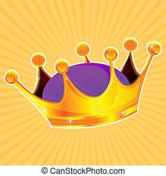 golden crown - illustration of golden crown