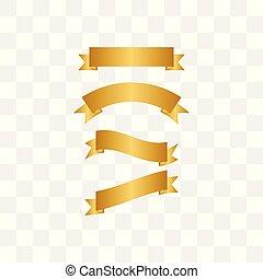 Illustration of golden ribbon