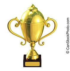Illustration of golden trophy