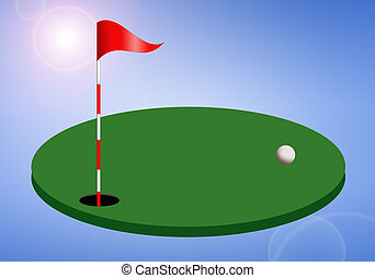 Golf course - illustration of Golf course