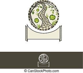 Grden Path Logo or Round Emblem