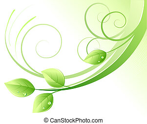 green abstract background - illustration of green abstract...