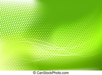 abstract techno background - illustration of green abstract...