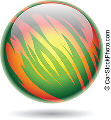 Green and Yellow Planet Sphere