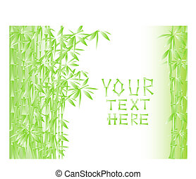 Illustration of green bamboo