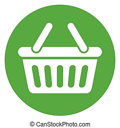 green basket circle icon