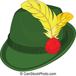 Illustration of green Bavaria Hat