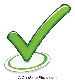 green checkmarck on white background