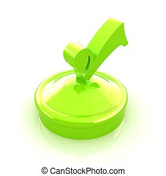 illustration of green checkmark on isolated background
