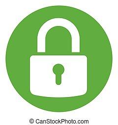 green circle padlock icon