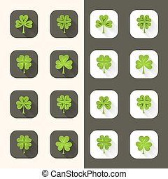 Clover icon set