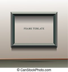 illustration of green frame template
