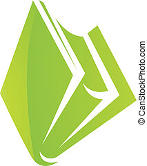 Green Glossy Book Icon
