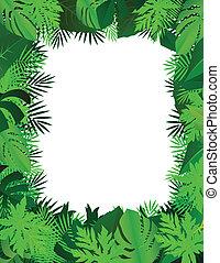 illustration of green leaf background
