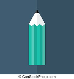 Green pencil icon over blue