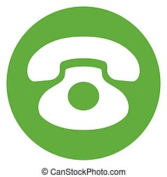 green phone circle icon
