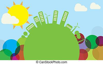 green world skyline