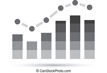 Grey Stats Graph - Illustration of Grey Stats Graph isolated...