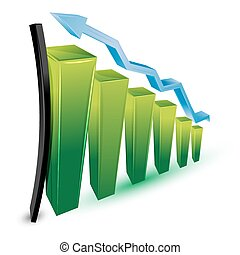 growing business graph - illustration of growing business...