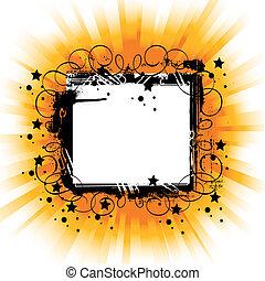 black frame on shining background
