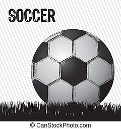 illustration of grunge soccer ball