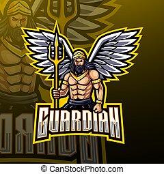 Guardian angel mascot logo design
