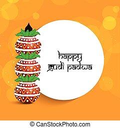 illustration of Gudi Padwa background