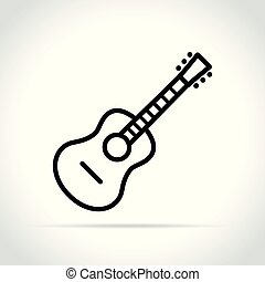 guitar icon on white background