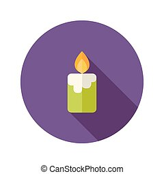 Halloween Candle Flat Icon