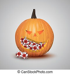 Halloween pumpkin isolated
