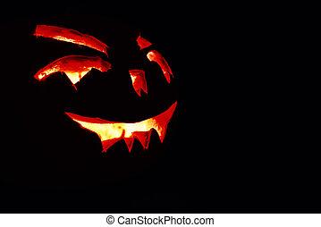 illustration of halloween pumpkin on the black background