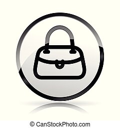 hand bag icon on white background