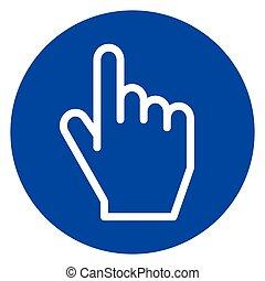 hand circle icon concept