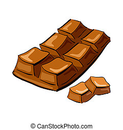 Illustration of hand drawn chocolate bar