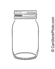 Illustration of hand drawn doodle jar